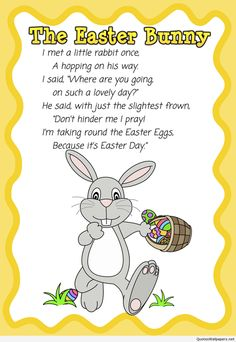 the easter bunny quote poem