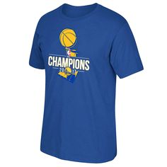 Golden State Warriors 2017 NBA Finals Champions Primary Logo Short Sleeve Tee - Royal