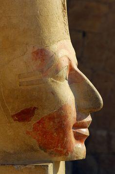 Hatshepsut (1508-1458 b.C) was the second pharaoh of the eighteenth dynasty. Osirian statue. New Kingdom. Temple of Deir El Bahari. Thebes. Egypt. |