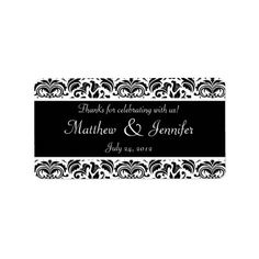 Deals Black and White Damask Wedding Favor Labels This site is will advise you where to buy