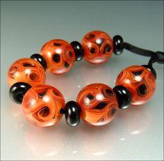 INNER DEPTH - CORAL - Lampwork Bead Set