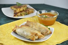 Crispy Baked Pork Spring Rolls.  Just as good as fried, but healthier!