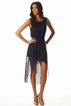 Sheer Chiffon Drape Dress $42.00