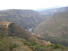 View of the Río Grande de Santiago, and the Barranca de Oblatos.