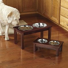 Orvis Elevated Wooden Feeder / Small -- Click on the image for additional details. (This is an affiliate link) #DogLovers