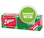 Sweepstakes ~ Daily ~ INSTANTLY WIN one of 3,000 boxes of Red Limited Edition Ziploc Holiday Slider Bags! Now thru Nov 19th, 2013! ~
