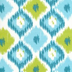 Another gorgeous print from Annette Tatum—this time in turquoise and lime.