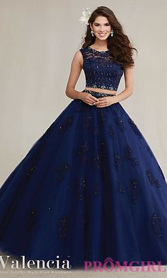 Long Two Piece Mori Lee Quinceanera Dress at PromGirl.com