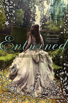 "Entwined by Heather Dixon -- Confined to their dreary castle while mourning their mother's death, Princess Azalea and her eleven sisters join The Keeper, who is trapped in a magic passageway, in a nightly dance that soon becomes nightmarish.  // This is retelling of Grimm's ""12 Dancing Princesses"". #books #reading"