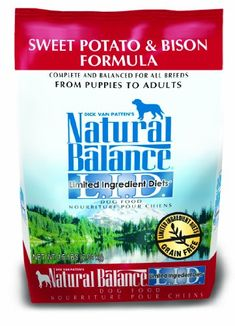 Dick Van Patten's Natural Balance Limited Ingredient Diets Sweet Potato and Bison Formula Dry Dog Food, 4.5-Pound Bag >>> See this great product.