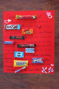 Chocolate bar letter
