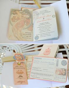 Absolutely love these wedding invitations to compliment the Australian destination wedding.    Photo:  Last Forty Percent  Invitations:  April Twenty Five