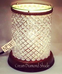 Gorgeous New Cream Diamond Shade #Scentsy warmer! https://michelleciano.scentsy.us