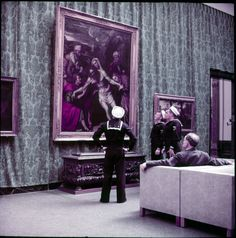 The Metropolitan Museum of Art, Paintings Gallery 2: 15th- and 16th- Century Renaissance Paintings, including The Entombment (12.61); With People. Photographed in 1955. Image © The Metropolitan Museum of Art