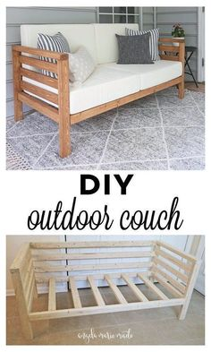 Outdoor Couch, Modern Outdoor Chairs, Outdoor Seating, Outdoor Lounge, Diy Furniture Table, Diy Outdoor Furniture, Diy Furniture Plans, Simple Furniture, Rustic Furniture
