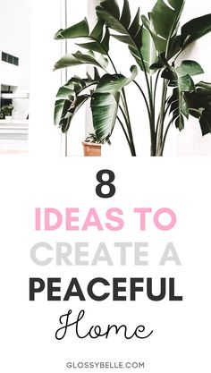 Being in an environment where you feel relaxed  at peace is important in order to be productive and happy. Here are 8 ways to create a more calm  relaxing space in your home or office so you can relieve anxiety and feel happier, less stressed, and more at peace. | plants | productivity | inspiration | motivation | anxious | stress-free | home decor | self-care | happiness | wellness tips | mental health | minimalism | aromatherapy | essential oils | anxiety | home organization | zen Wellness Tips, Health And Wellness, Mental Health, Yoga For Stress Relief, Stress Free, Feeling Happy, How Are You Feeling, Essential Oils For Anxiety, Peaceful Home