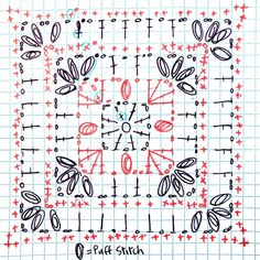 Transcendent Crochet a Solid Granny Square Ideas. Inconceivable Crochet a Solid Granny Square Ideas. Crochet Motif Patterns, Granny Square Crochet Pattern, Crochet Chart, Crochet Squares, Crochet Granny, Crochet Doilies, Crochet Flowers, Crochet Stitches, Knitting Patterns
