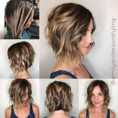 2019 was the year of the lob , a long bob which is in fact a bob with shoulders. This haircut was very popular because it is easy to style and fits most women, regardless of their appearance and the texture of their hair. Cute Bob Haircuts, Bob Hairstyles For Thick, Layered Haircuts, 2015 Hairstyles, Casual Hairstyles, Celebrity Hairstyles, Weave Hairstyles, Balayage Brunette, Balayage Hair