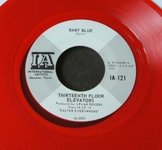 "13th Floor Elevators She Lives 7"" Red Vinyl Official Reissue Mint 