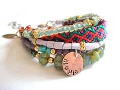 Bohemian gypsy bracelet  hippie style  multipe by OOAKjewelz, $100.00- if only i could afford this