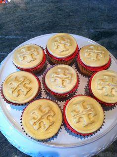 Homemade Tory Burch cupcakes. TSM.