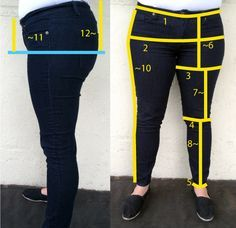 Create Your own Leggings Pattern - Measure-ChartLeggings pattern making tutorial--I dont wear these much, but it may be usefulDraft a pair of leggings to your measurementsgreat looking clothing websiteHow to measure dress forms Diy Clothing, Clothing Patterns, Sewing Patterns, Skirt Patterns, Coat Patterns, Blouse Patterns, Sewing Pants, Sewing Clothes, Sewing Coat
