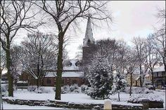 St. Thomas's Church, Penkhull in the snow, Stoke-on-Trent.