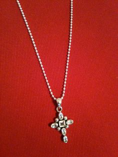 Sterling Silver Cross with  six Faceted by graceandcompany1, $68.00