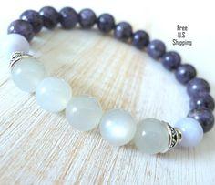 High quality Moonstone, Jade, healing bracelet, calming, Yoga Bracelet, Meditation bracelet, Reiki,  mala, Moonstone bracelet, jade bracelet