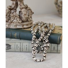 Kissima Drammeh Cow Bone Beads - Small ($40) ❤ liked on Polyvore