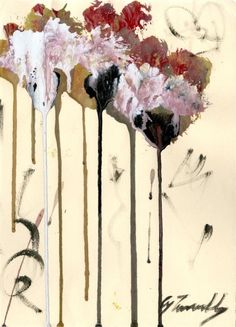 """terminusantequem:  """"Cy Twombly (American, 1928-2011), Untitled Study (#2), 2004. Oil and acrylic on paper, 29,4 x 21,6 cm  """""""