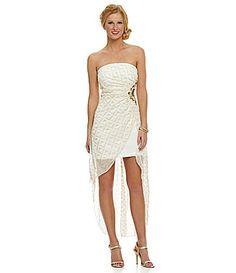 8b9590285bc Teeze Me Beaded Glitter Chiffon HiLow Dress  Dillards Hi Low Dresses
