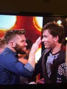 Joel Dommett and David Tennant