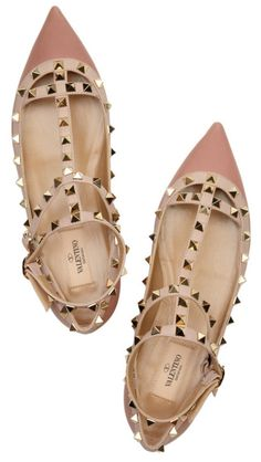 Also love these valentino studded ballerina flats