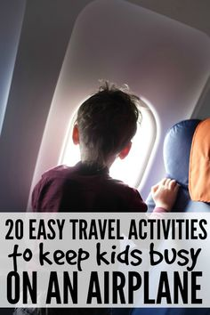 If you plan on spending more than 30 minutes on an airplane with your kids this summer, this list of 20 easy travel activities to keep kids happy on an airplane will save your life! Traveling with Kids, Traveling tips, Traveling Kids Travel Activities, Airplane Activities, Airplane Games For Kids, Toddler Travel, Travel With Kids, Family Travel, Flying With Kids, Airplane Travel, Traveling With Baby