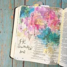"""""""He answers me. Sometimes I feel like the only thing keeping me stuck in neutral is fear and insecurity. They come at me from all sides like fiery darts-…"""" Bible Drawing, Bible Doodling, Scripture Study, Bible Art, Scripture Journal, Bibel Journal, Faith Bible, Bible Prayers, Illustrated Faith"""