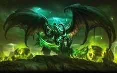Download wallpapers Illidan, 4k, battle, World of Warcraft, warriors, monsters, WoW