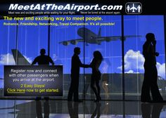 MeetAtTheAirport.com - Meet up with people at the airport while waiting for your flight  #Networking during your layovers