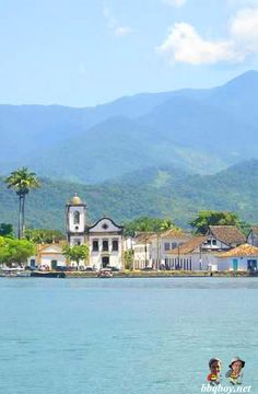 Paraty, Brazil, seen coming in from the water. Lots of photos of this beautiful area here: http://bbqboy.net/ilha-grande-paraty-brazil-beaches-hikes-and-beautiful-scenery/ #paraty #brazil