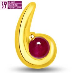 Round Ruby Pcs: 1 pcs     Round Ruby Wt: 0.50 cts     Gold Wt: 0.800 gms      Gold purity: 18 kt      Dimension: H=1.20 cm      Code Number :P-1112