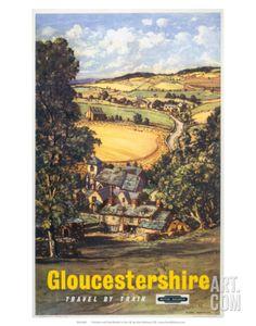 Gloucestershire, BR, c.1960 Art Print at Art.com