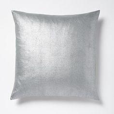 Solid Metallic Pillow Cover - Platinum Silver #westelm