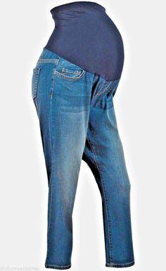 a3af80e3f1371 Liz Lange Maternity Jeans Dark Denim Straight Leg Full Panel Size 16 # fashion #clothing