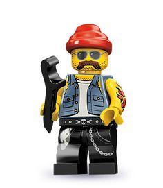 Lego 71001 Minifigure Series 10 - Motorcycle Mechanic - NEW Lego Ninjago Movie, Lego Movie, Motorcycle Mechanic, Lego People, Lego Minifigs, Lego Dc, Lego Marvel, Lego News, Thing 1