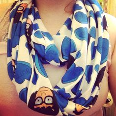 Tina Belcher Butts Bobs burgers infinity scarf preorder