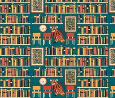 in the library fabric by kociara on Spoonflower - custom fabric