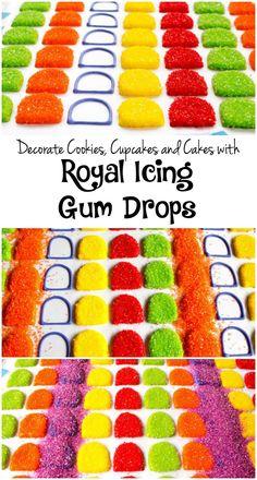 Gum Drop Royal Icing Transfers via www.thebearfootbaker.com