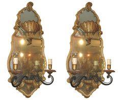 Maison Jansen Mirrored Sconces #lighting