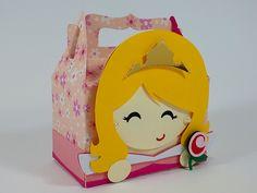 Esta linda caixinha da princesa Aurora deixa a sua festinha de A Bela Adormecida ainda mais encantada. Festa Princesas Disney.