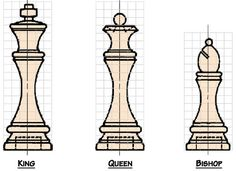 Free Chess Set Woodworking Plans from Shopsmith??king queen bishop